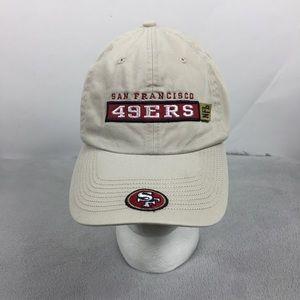 San Francisco 49ers NFL Tan Adjustable Strap Hat